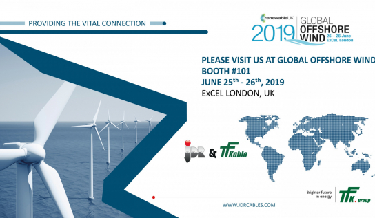 TFKable and JDR will together be presenting the potential of TFKGroup during GLOBAL OFFSHORE WIND